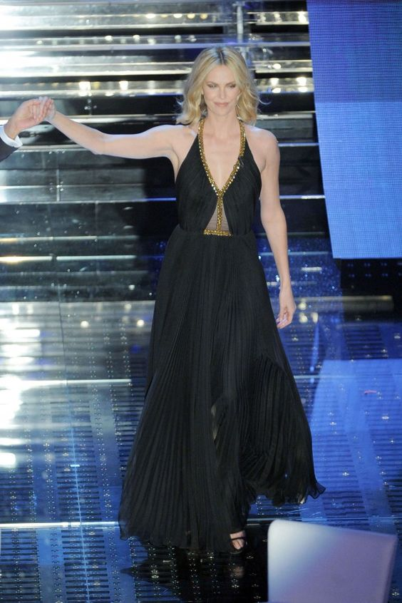 Charlize Theron in Jenny Packham