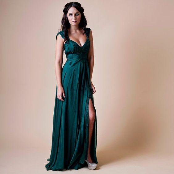 explore emerald green wedding dress