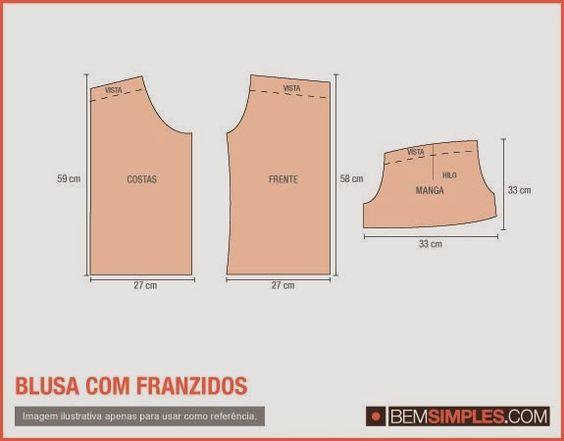 Modelagem Corte e Costura Cléo Alves : Como Fazer Uma Blusa Cigana,Com Molde .