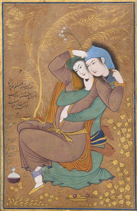 Two Lovers, 1630 Reza Abbasi