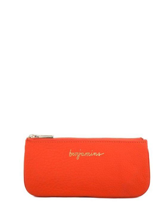 Benjamins Zipper Pouch- Bright Orange