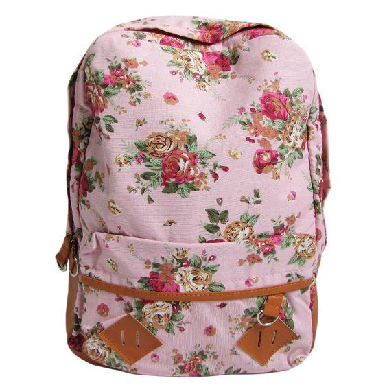 cute vintage backpacks | ... Vintage Cute Flower School Book ...
