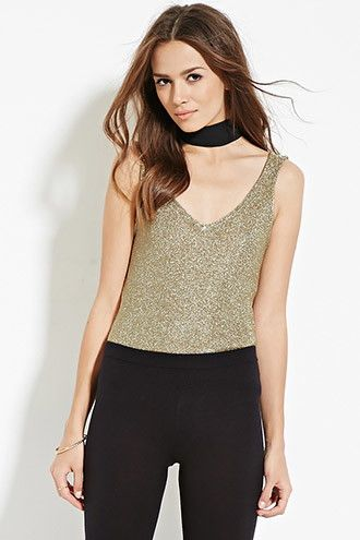 Contemporary Metallic Loose-Knit Tank | Forever 21 - 2000181054