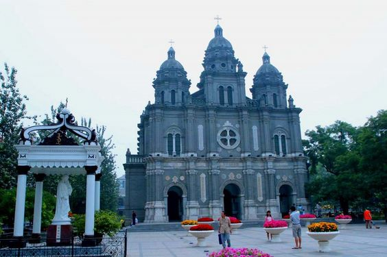 Wangfujing Cathedral. The oldest Roman Catholic church in Beijing.