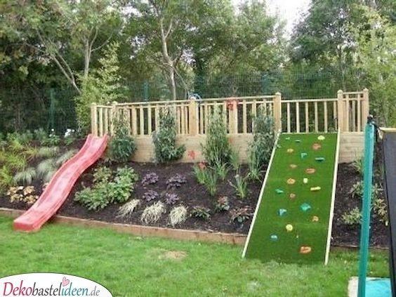 Ein Spielplatz Fur Die Kinder Garten Gestalten In 2020 Hinterhof Spielplatz Garten Spielplatz Hinterhofideen