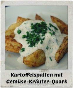 Kartoffelspalten mit Gemüse-Kräuterquark