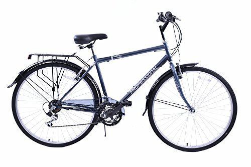 "REGENT 700C WHEEL UPRIGHT POSITION MENS 18 SPEED HYBRID CITY BIKE GREY 19"" FRAME…"