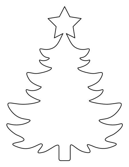 A Christmas Tree Template With A Star On Top Christmas Tree Template Christmas Tree Stencil Christmas Tree Coloring Page