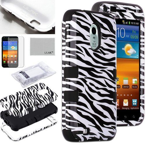 Pandamimi ULAK(TM) 3-Piece Defender Hybrid High Impact Rubber Case Cover and Inner Soft Black Silicone Shell for Samsung Galaxy S2 D710 Epic Touch Sprint with Free Screen Protector + Stylus (Zebra Skin and Black) by ULAK, http://www.amazon.com/dp/B00DLT4SQE/ref=cm_sw_r_pi_dp_-PJ2rb0X63A6M