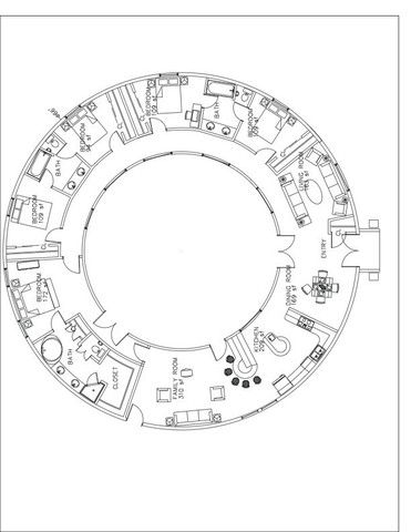 HOUSE PLANS - underground dome home, think Hobbit house :) http://www.monolithic.com/topics/floor-plans-five-bedroom: