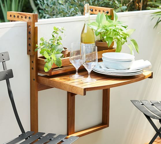 Juliet Balcony Table Rail Furniture For Small Spaces Patio Furniture Sets Small Outdoor Spaces