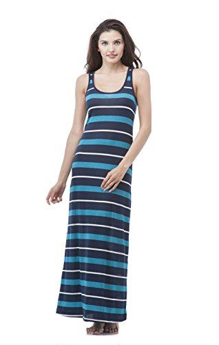 best   Women's Striped Long Full Length Racerback Tank Dress (Small, Navy/Teal/White) #fashion #beauty #lifestyle #vintage #beverage #vintagedress #hair #nails  Check more at http://www.musthave.ovh/womens-striped-long-full-length-racerback-tank-dress-small-navytealwhite/