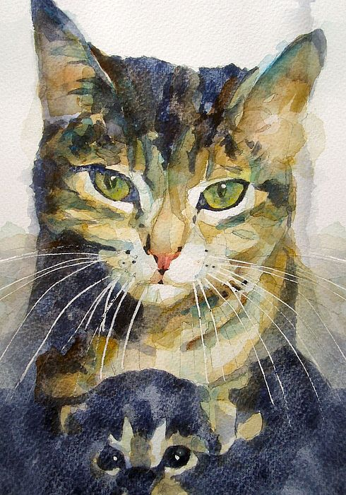 Baby I Love You By Paul Lovering In 2020 Watercolor Cat Cat Art