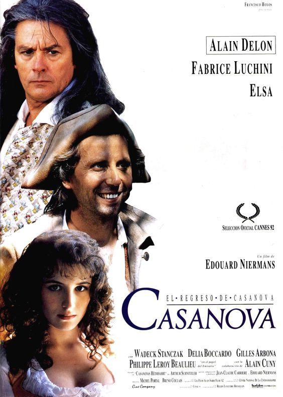 """Cartel Español de """"El regreso de Casanova"""" (1992)"""