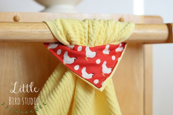 A personal favorite from my Etsy shop https://www.etsy.com/listing/273205484/sunny-side-up-stay-put-towel-kitchen