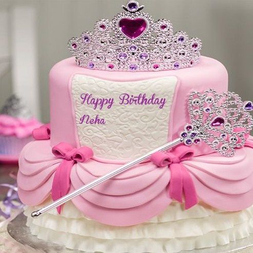 Happy Birthday Neha Cake Images Cute Birthday Cakes Princess Birthday Cake Girl Cakes