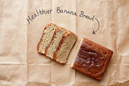 Healthified banana bread (good for breakfast too!)