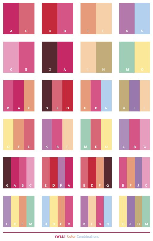 Color Schemes Sweet Combinations Palettes For Print C O L R S Pinterest And