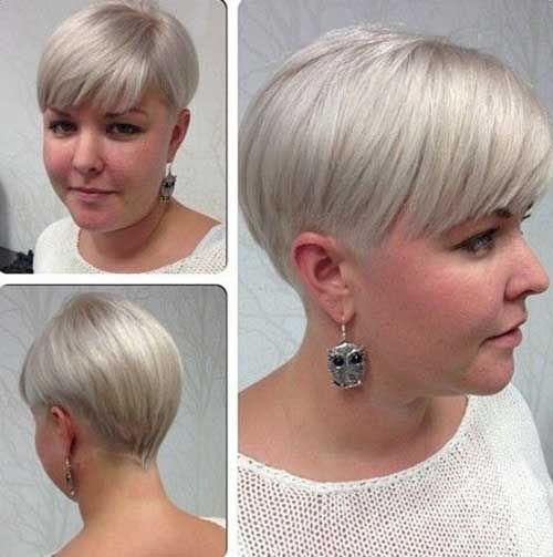 Admirable Short Hairstyles Co Wp Content Uploads 2016 02 Fat Short Hairstyles Gunalazisus