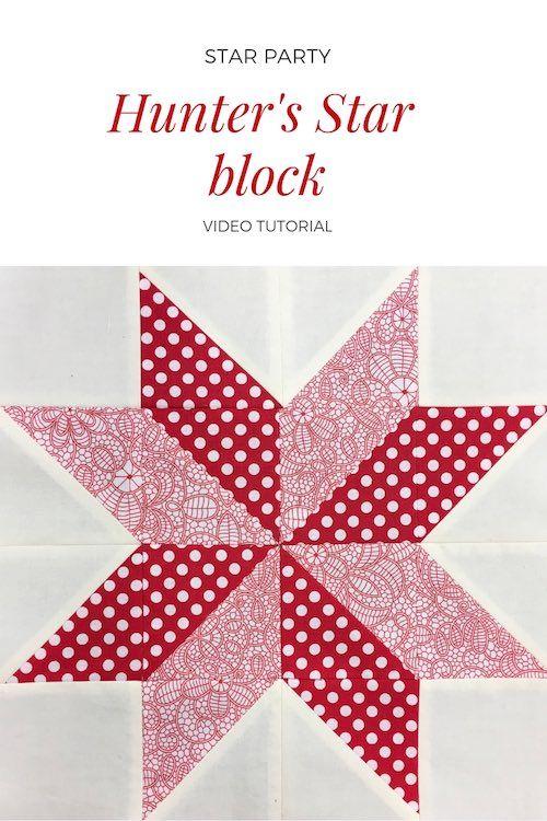 Hunter S Star Inspired Quilt Block Video Tutorial Quilt Block