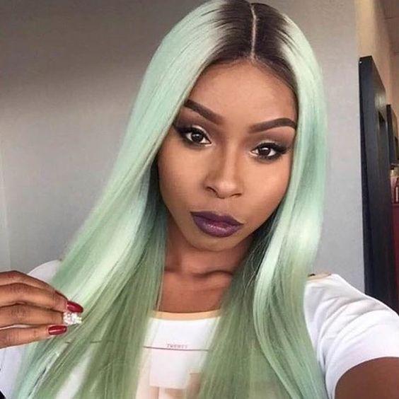 Pin em Negras com Cabelo Colorido | Black Girl Colored Hair ♥