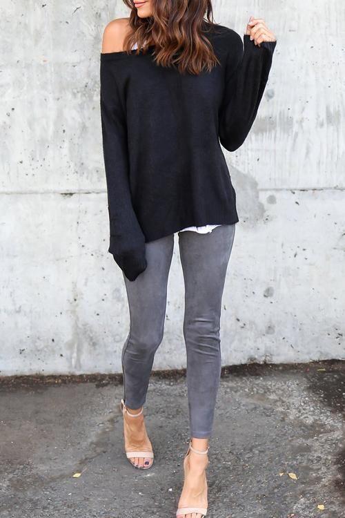 Leisure Mid Waist Zipper Design Grey Leggings – ChicaLooks