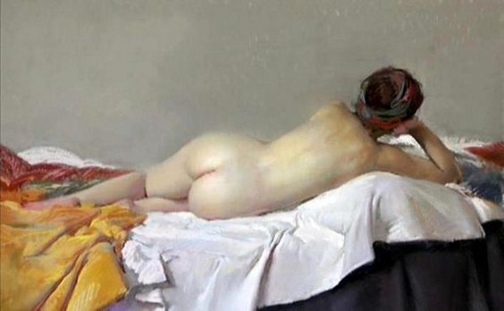 Desnudo 2. Felipe Santamans, Spanish Artist, born in 1951.