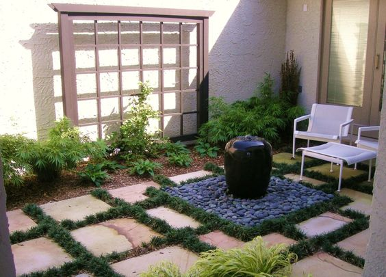 Wonderful Small Outdoor Water Fountains Modern Home Designs The Fall Winter Garden