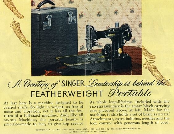 singer featherweight sewing machine parts