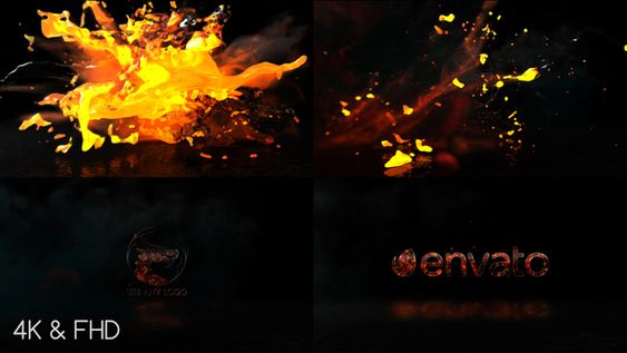 Fire Action Logo - Premiere Pro - 7