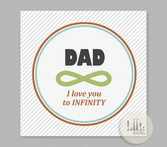 Father's Day Card - I love you to INFINITY