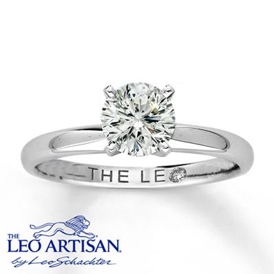 18K White Gold 1 Carat Leo Diamond. Perfection. Thin band to compliment my fingers and the solitaire diamond. Simple, but still manages to be super expensive. #hewenttojared