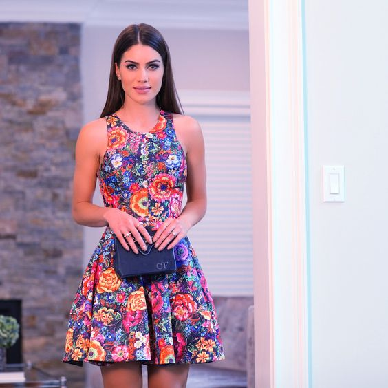 camila coelho alfreda floral dress summer night  look