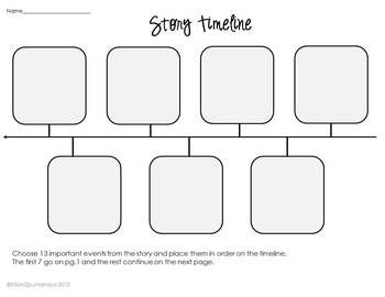 story outline template for kids - sequencing timeline template for any book literature