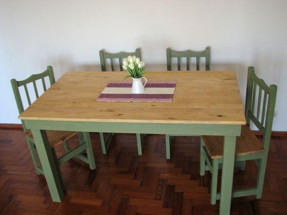 mesa cocina comedor 1 20 x 0 70 pino pintada living