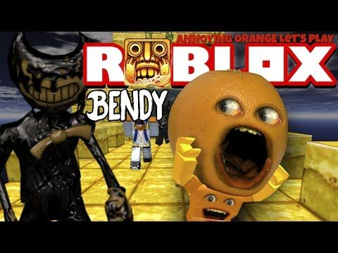 Running In Roblox Youtube Annoying Orange Plays Roblox Temple Run 2 Attack Of Bendy Youtube In 2020 Annoying Orange Play Roblox Roblox