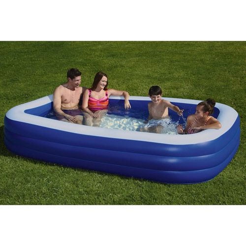 """My Sunshine 120"""" x 72"""" Deluxe Inflatable Swimming Pool: Outdoor Play : Walmart.com"""