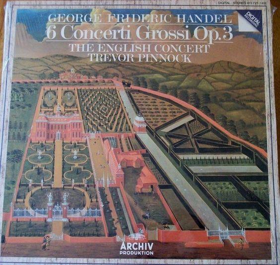 """Handel 6 Concerti Grossi Op 3 Trevor Pinnock English Concert Sealed 12"""" Vinyl LP"""
