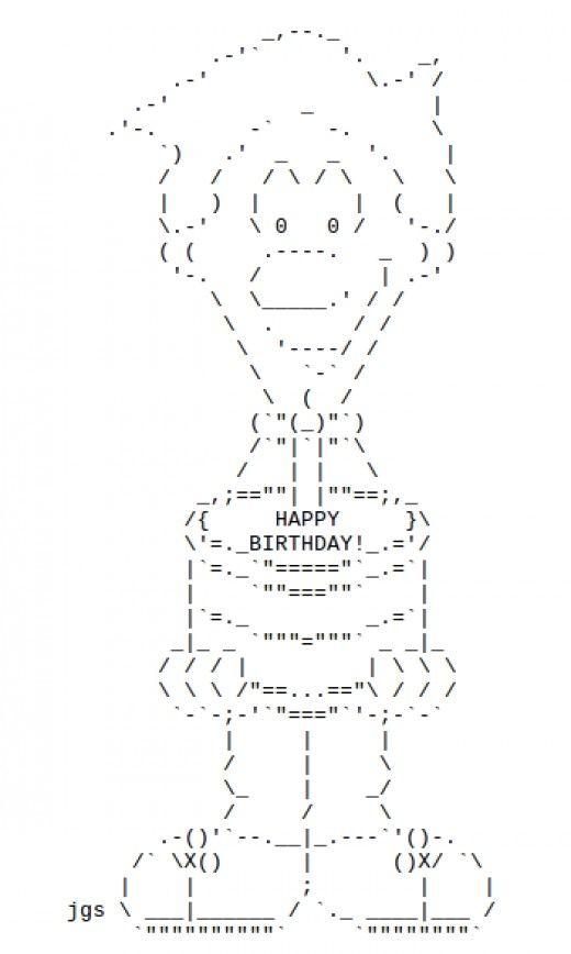 Ascii Art Birthday Cake Iphone