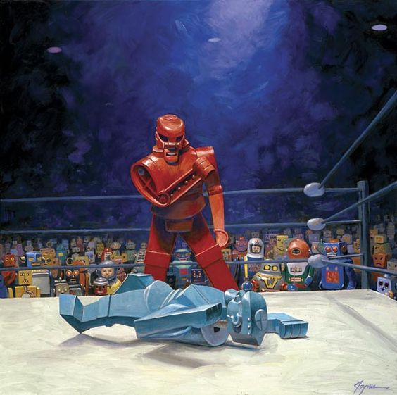 Rock 'Em Sock 'Em Robots recreate the Muhammad Ali/Sonny Liston fight #geek