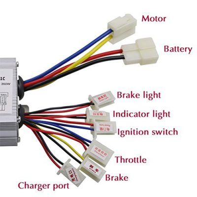 Tdpro Jcmoto 24v 350w Brushed Speed Motor And Controller Set For Electric Scooter Go Kart Bicycle E Bike Tricycle Moped Go Kart Electric Dirt Bike Ebike
