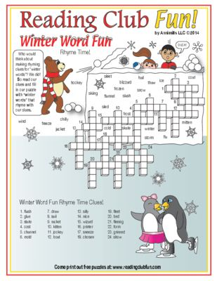 WINTER WORD FUN - Teach about rhyming with this winter-themed ...