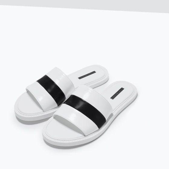 Plain Slip-On Sandals, Zara