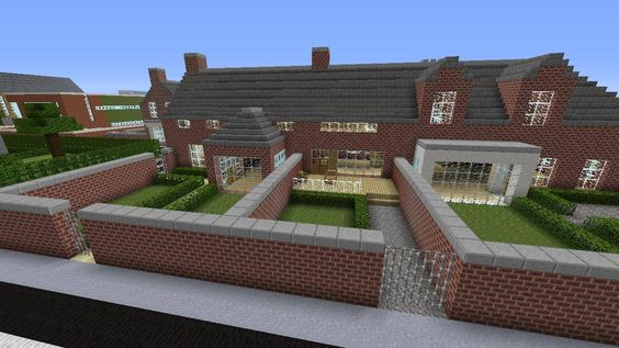 Minecraft gaming xbox xbox360 PC house home creative mode mojang barn modern house bungalow upside-down MinecraftHome MinecraftHouse PhillipStewartDesign MinecraftBuilding britishBackYard  Minecraft town MinecraftYards
