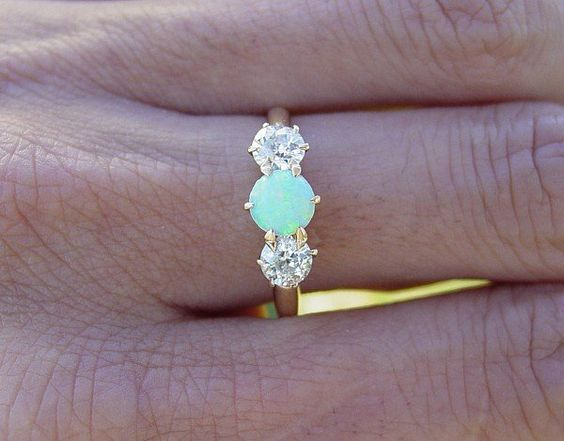 Opal and diamonds