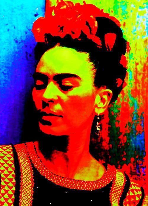 Frida Kahlo http://michelle-wilmot.artistwebsites.com/featured/funky-frida-michelle-wilmot.html