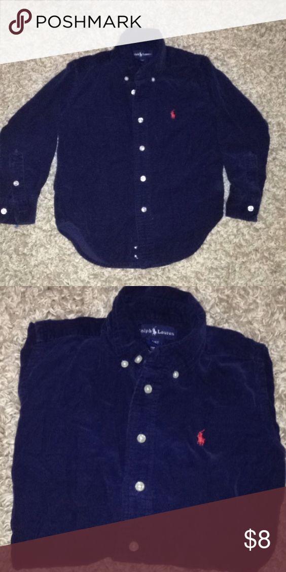Boys 4T Polo Shirt Very Nice Button up Shirt. Very good condition. Navy Blue Shirts & Tops Button Down Shirts