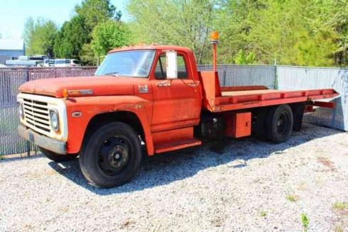 Ford F500 1969 Towtruck Flat Bed Tow Truck In 2020 Trucks Tow Truck Work Truck