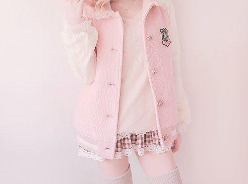 Pastel Pink Varsity Jacket | Whimsical Wonders | Pinterest | Pink ...