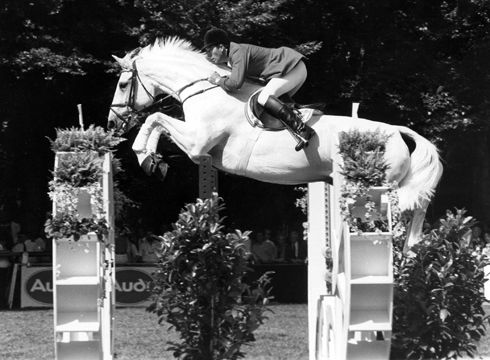Britain's John Whitaker and Milton - the first horse and rider combination ever to win over £1 million in prize money #showjumping
